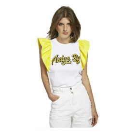 TOP DONNA ANIYE BY MANICHE AD ALETTA VYNIL MATY YELLOW 185633 121
