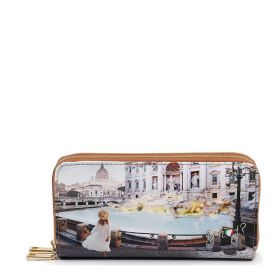 PORTAFOGLIO DONNA Y NOT? WALLET DOUBLE ROMA TREVI YES568S1 121