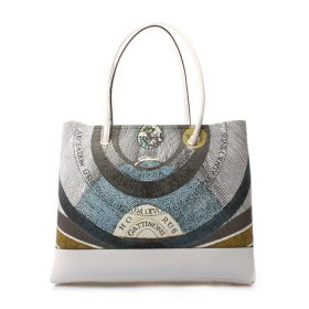 BORSA DONNA GATTINONI PLANETARIUM SHOPPING WHITE BEGPL66 121