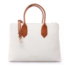 BORSA DONNA VALENTINO BAGS SHOPPING PETRA BIANCO/CUOIO VBS5BE01 121