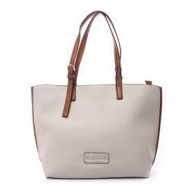 BORSA DONNA VALENTINO BAGS SHOPPING BAG ADELE ECRU/CUOIO VBS4T401 121