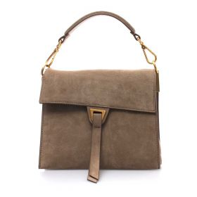 BORSA DONNA COCCINELLE TOP HANDLE LOUISE SUEDE TAUPE E1I06150 221