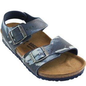 SANDALO BIRKENSTOCK NEW YORK CITY RIO KIDS CAMOUFLAGE BLUE ART 1004917 117