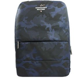 ZAINO UOMO AERONAUTICA MILITARE PORTA PC/TABLET RFID CAMOUFLAGE BLUE AM363 CO
