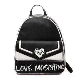 ZAINO DONNA LOVE MOSCHINO BACKPACK NERO/BIANCO JC4258 221