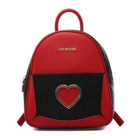 ZAINO DONNA LOVE MOSCHINO BACKPACK GRAINED ROSSO/NERO JC4321 221