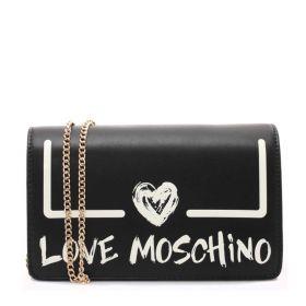 BORSA DONNA LOVE MOSCHINO CROSSBODY CITY PU NERO/BIANCO JC4289 221