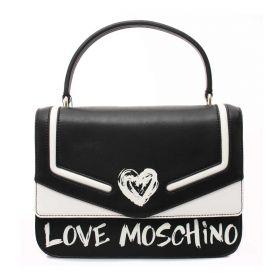 BORSA DONNA LOVE MOSCHINO CROSSBODY NERO/BIANCO JC4255 221