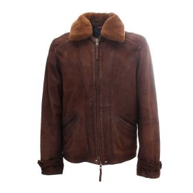 GIACCA UOMO THE JACK LEATHER CASSIUS COLLO TABACCO CAS7S 221