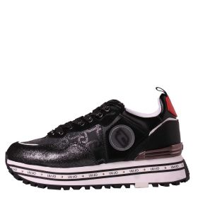 SCARPA DONNA LIU JO SNEAKERS CON LOGO MAXI WONDER 24 BLACK / RED BA1057T 121