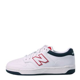 SCARPA UNISEX NEW BALANCE SNEAKERS LEATHER WHITE/NAVY BB480LWG 121