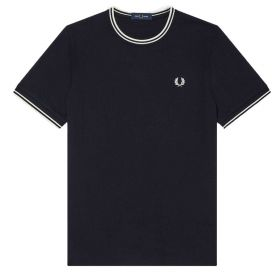 T-SHIRT UOMO FRED PERRY TWIN TIPPED NAVY M1588 121