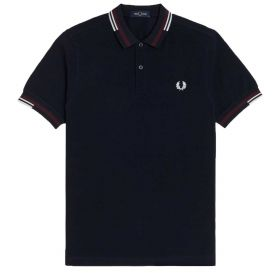 POLO UOMO FRED PERRY ASTRACT TIPPED NAVY M1618 121