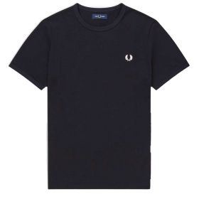 T-SHIRT UOMO FRED PERRY RINGER NAVY M3519 121