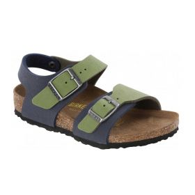 SANDALO BIRKENSTOCK NEW YORK KINDER KIDS GREEN / NAVY ART. 187253