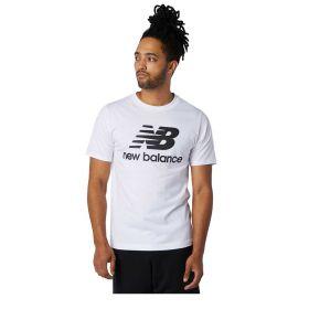T-SHIRT UOMO NEW BALANCE ESSENTIALS STACKED LOGO WHITE MT01575WT 121