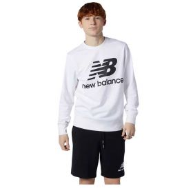 FELPA UOMO NEW BALANCE ESSENTIALS STACKED LOGO WHITE MT03560ECL 121