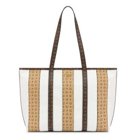 BORSA DONNA POLLINI SHOPPING BAG STRIPE ON ME BIANCO / CREMA / TAN SC4503 121