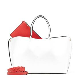BORSA DONNA MANILA GRACE SHOPPING GENET BIANCO B233EU 121
