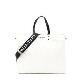 BORSA DONNA VALENTINO BAGS SHOPPING PEPA BIANCO VBS55L01 121