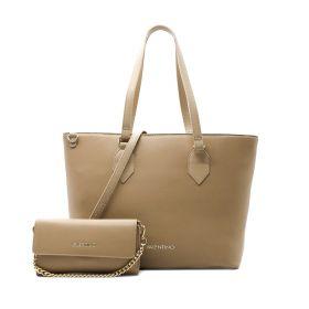 BORSA DONNA VALENTINO BAGS SHOPPING PETRA BEIGE VBS5BE02 121