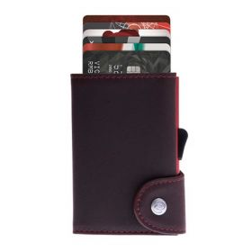 C-SECURE WALLET COIN POCKET CARDHOLDER LIMITED EDITIONS AUBURN