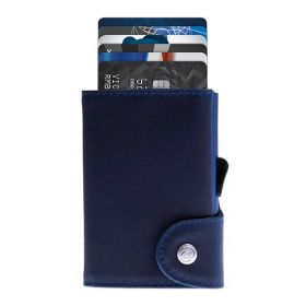 C-SECURE WALLET COIN POCKET CARDHOLDER LIMITED EDITIONS NAVAL BLUE