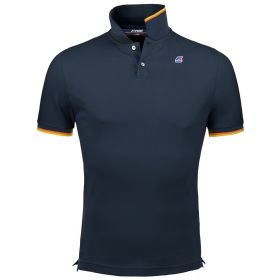 POLO UOMO E KID K-WAY VINCENT CONTRAST K008J5 BLUE 121
