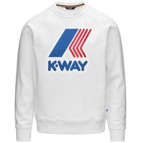 FELPA KID K-WAY EMANUEL MACRO LOGO WHITE K1121C 121